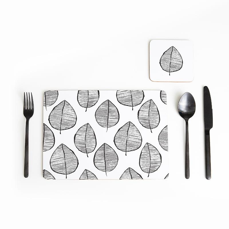 Lush Leaf Cork Backed Coasters   Set of 4 - My Hygge Home