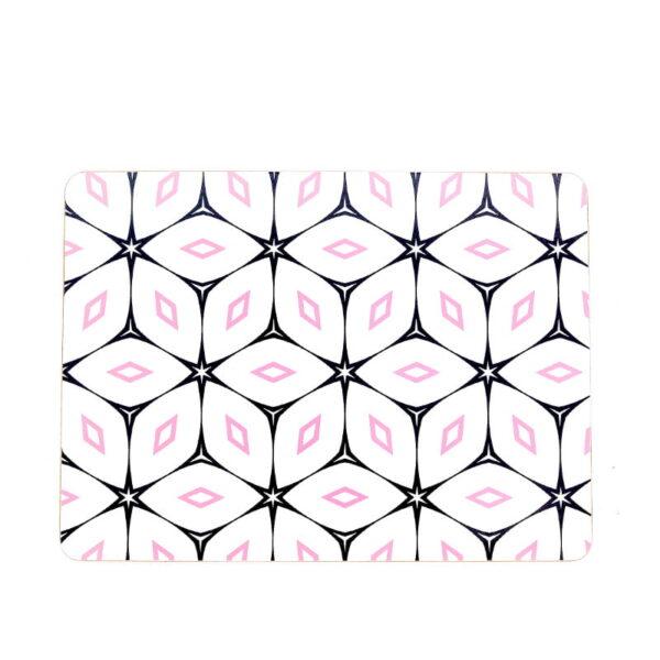 blush crush pink navy cork placemats