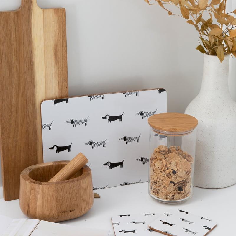 cork backed coaster placemat set dachshund panache lifestyleweb