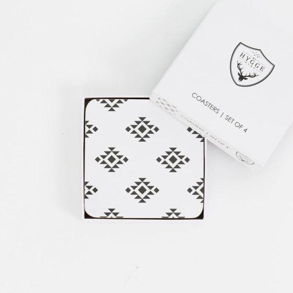cork backed coaster sets monochrome love premium web