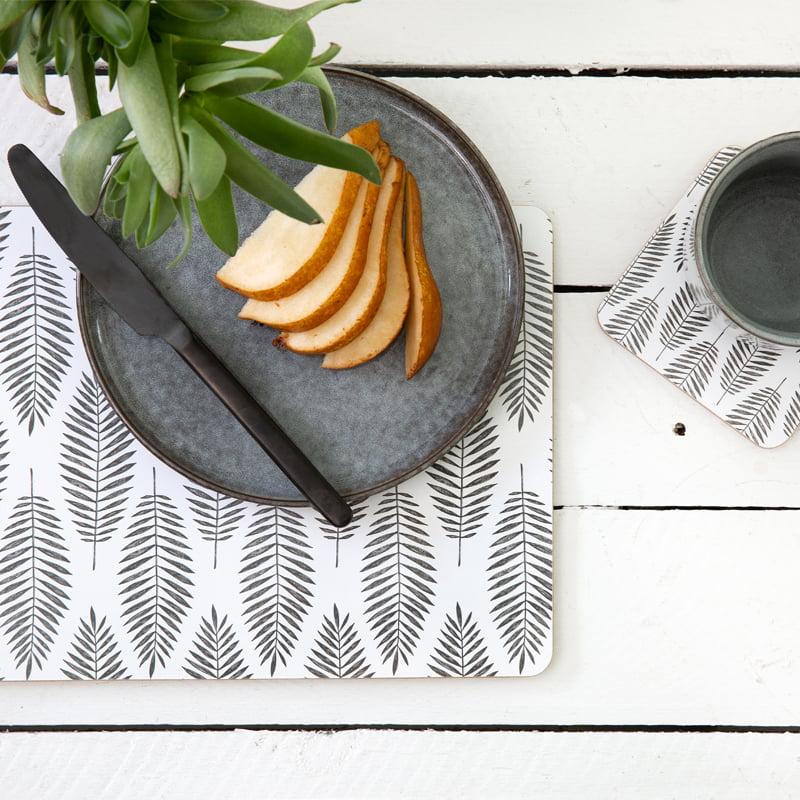 cork backed placemat coaster set fern fair lifestyle web