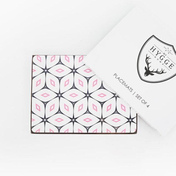 cork backed placemat set blush crush premium web