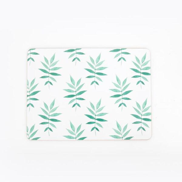 cork backed placemats sets svelte palm web