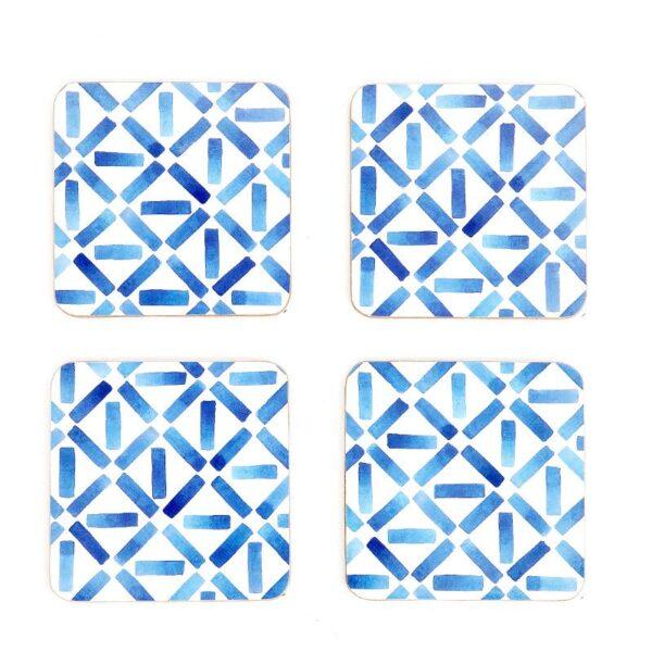 hue blue bliss cork coaster