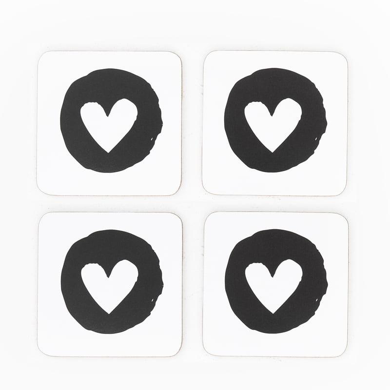 heart flutter coasters