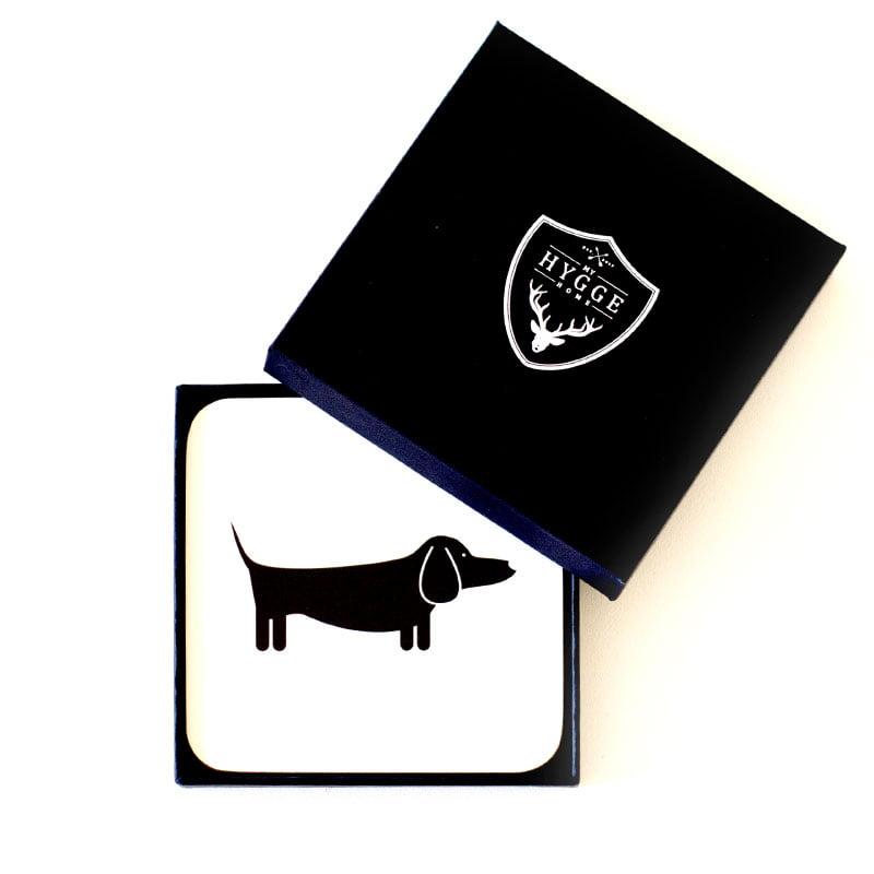 Dapper Dachshund Dog Cork Backed Coasters | Set of 4 | - My Hygge Home