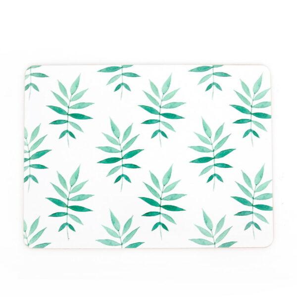 svelte palm cork green placemat
