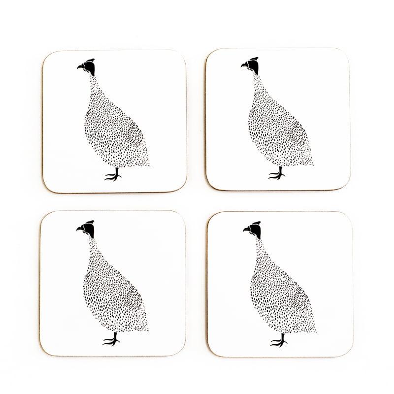 guinea fowl coasters