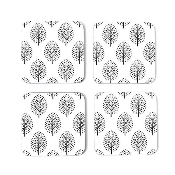 scandi trees coasters