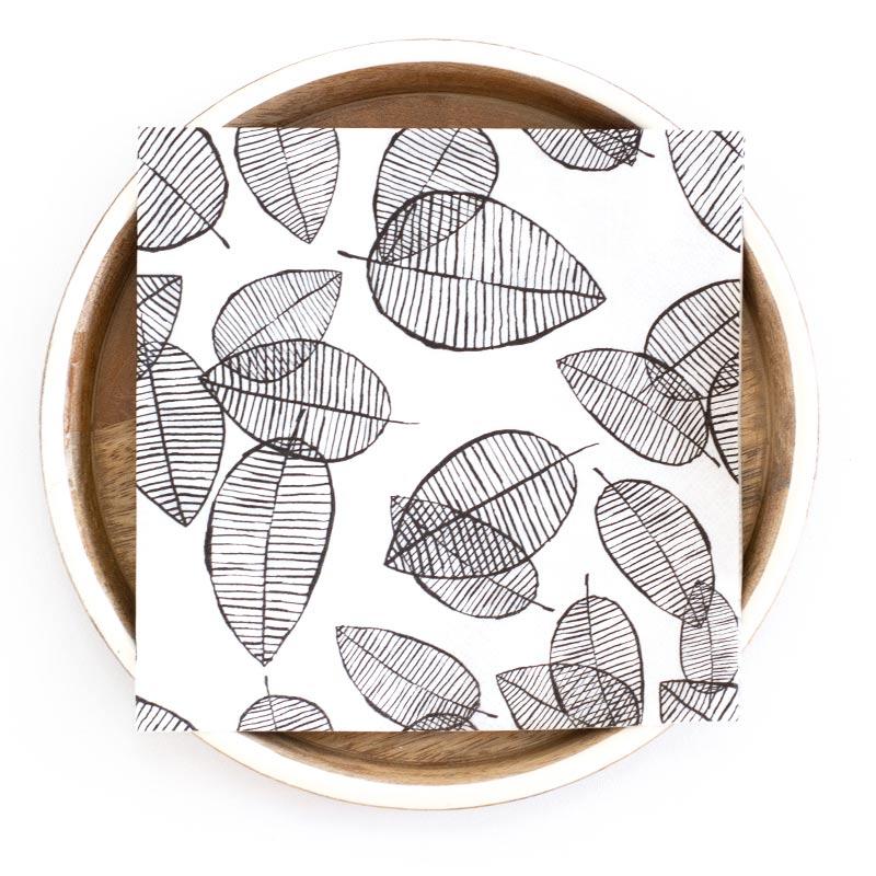 Lush leaf napkin web