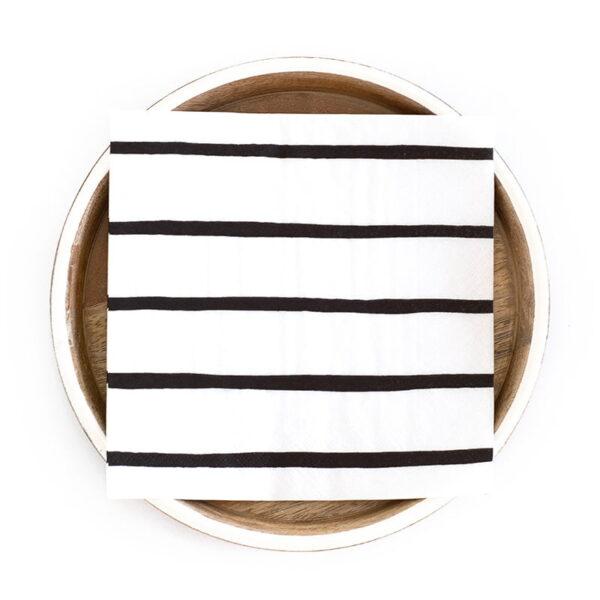 black stripe napkin web