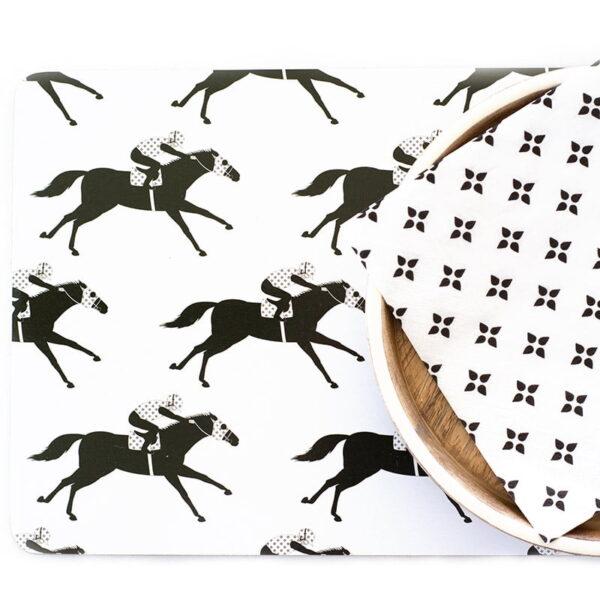 racehorse placemat napkin web