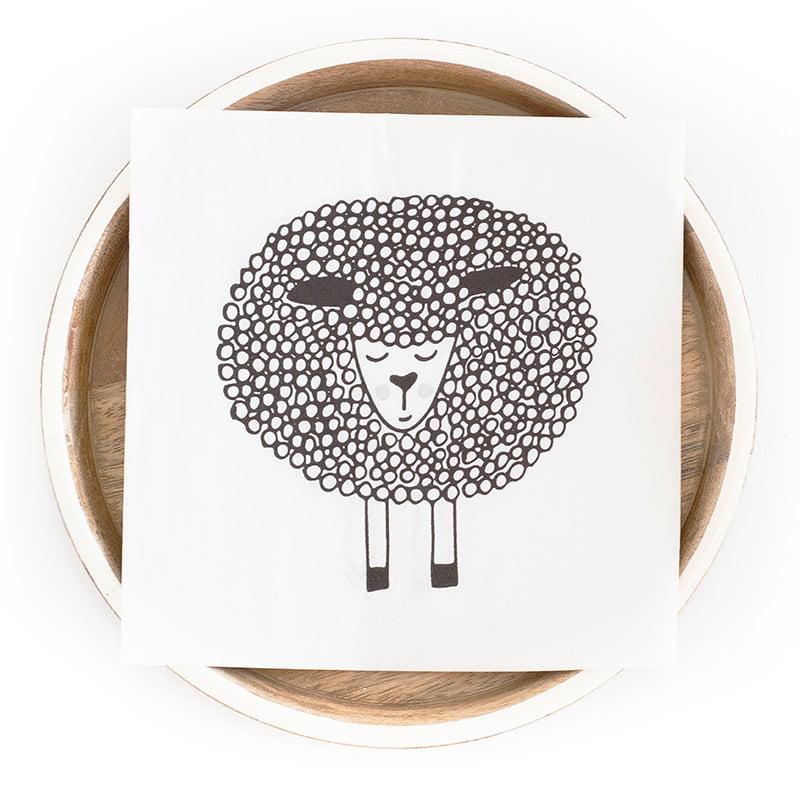 snoozy sheep single napkin web