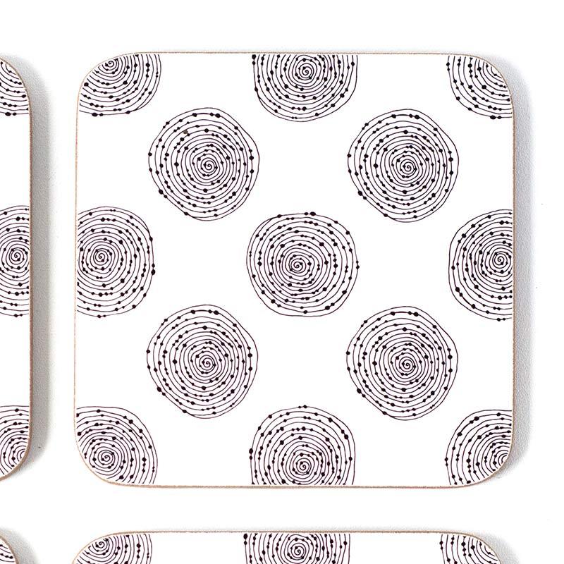 Circle Swirl coasters