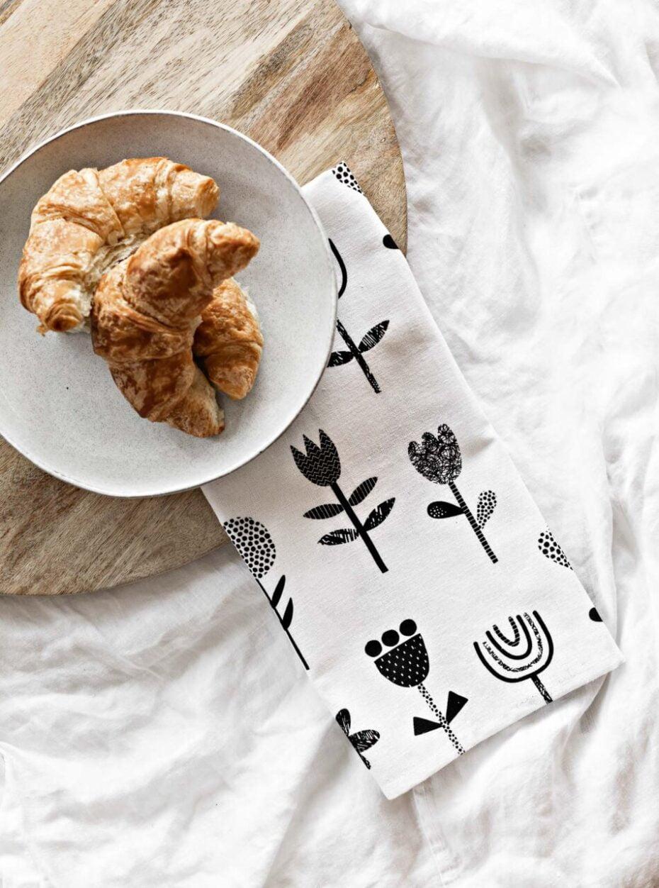linen blend tea towel